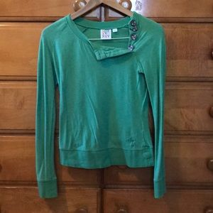 Roxy Light Green Button long sleeve